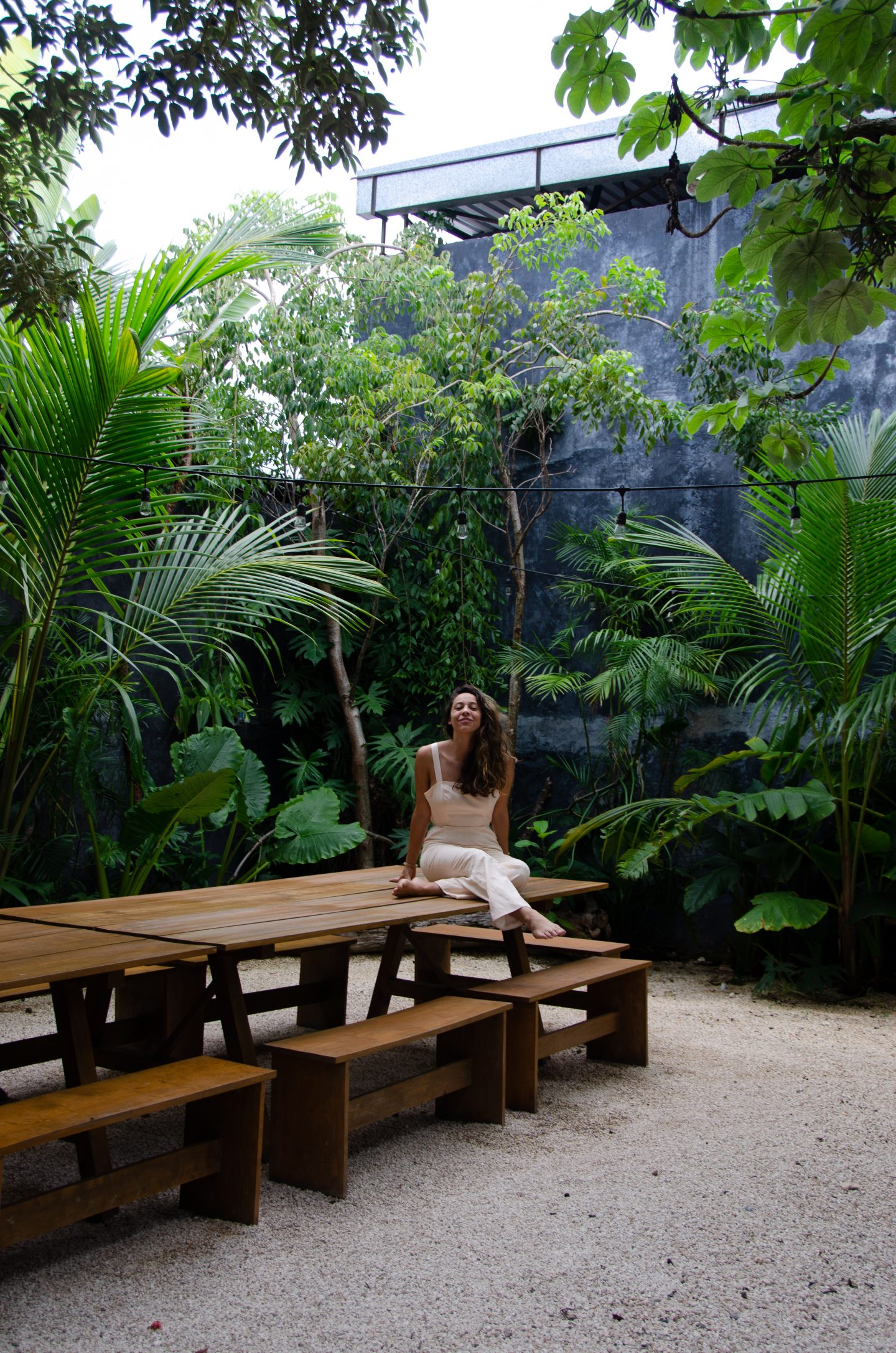 sample image of girl with jungle vibes for lightroom travel presets