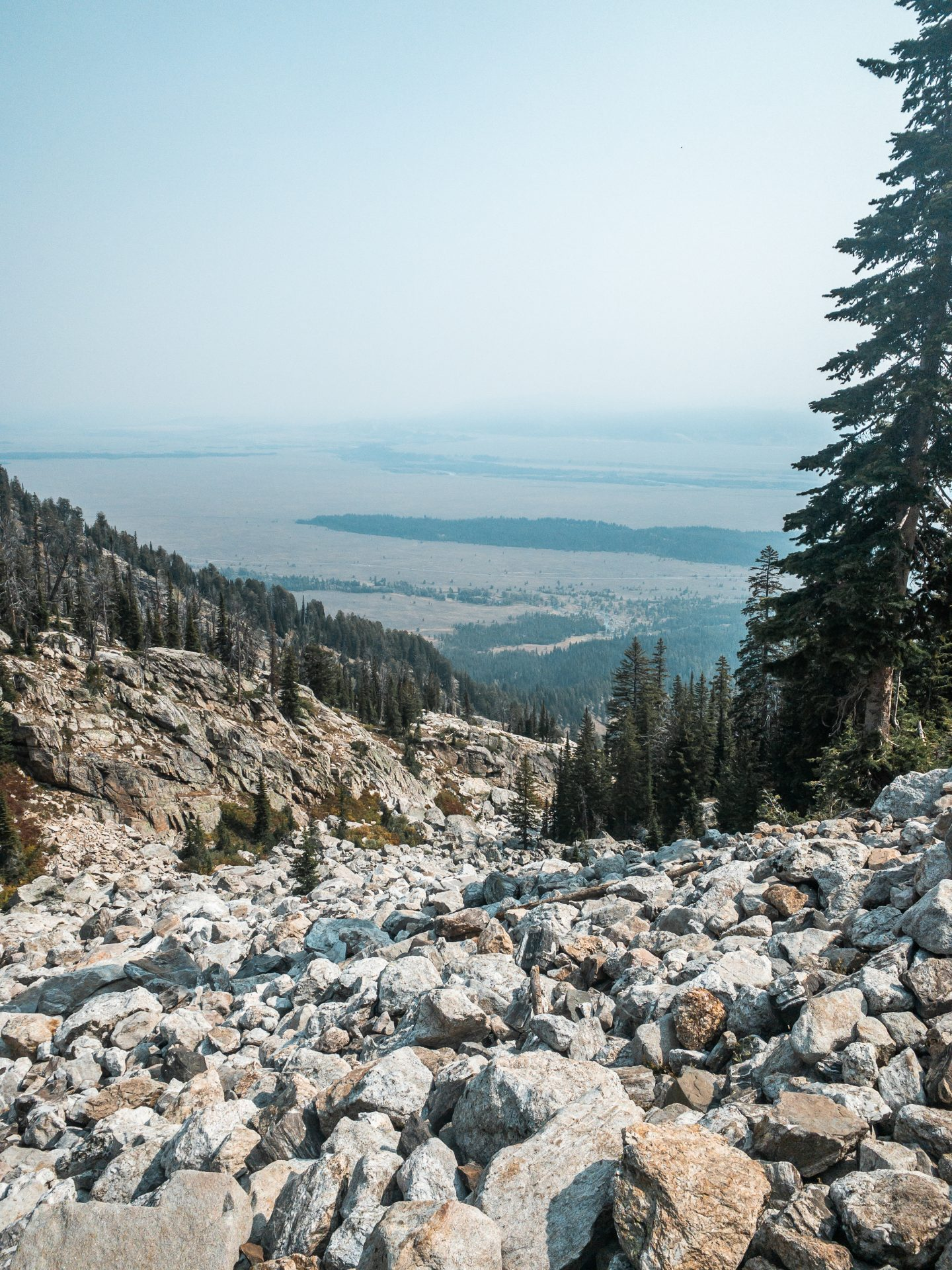 Hiking to Delta Lake in Grand Tetons