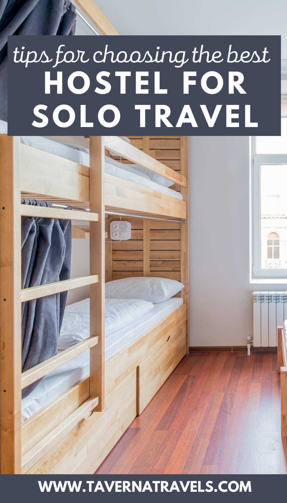 Tips on Choosing the Best Hostel for Solo Travel pin