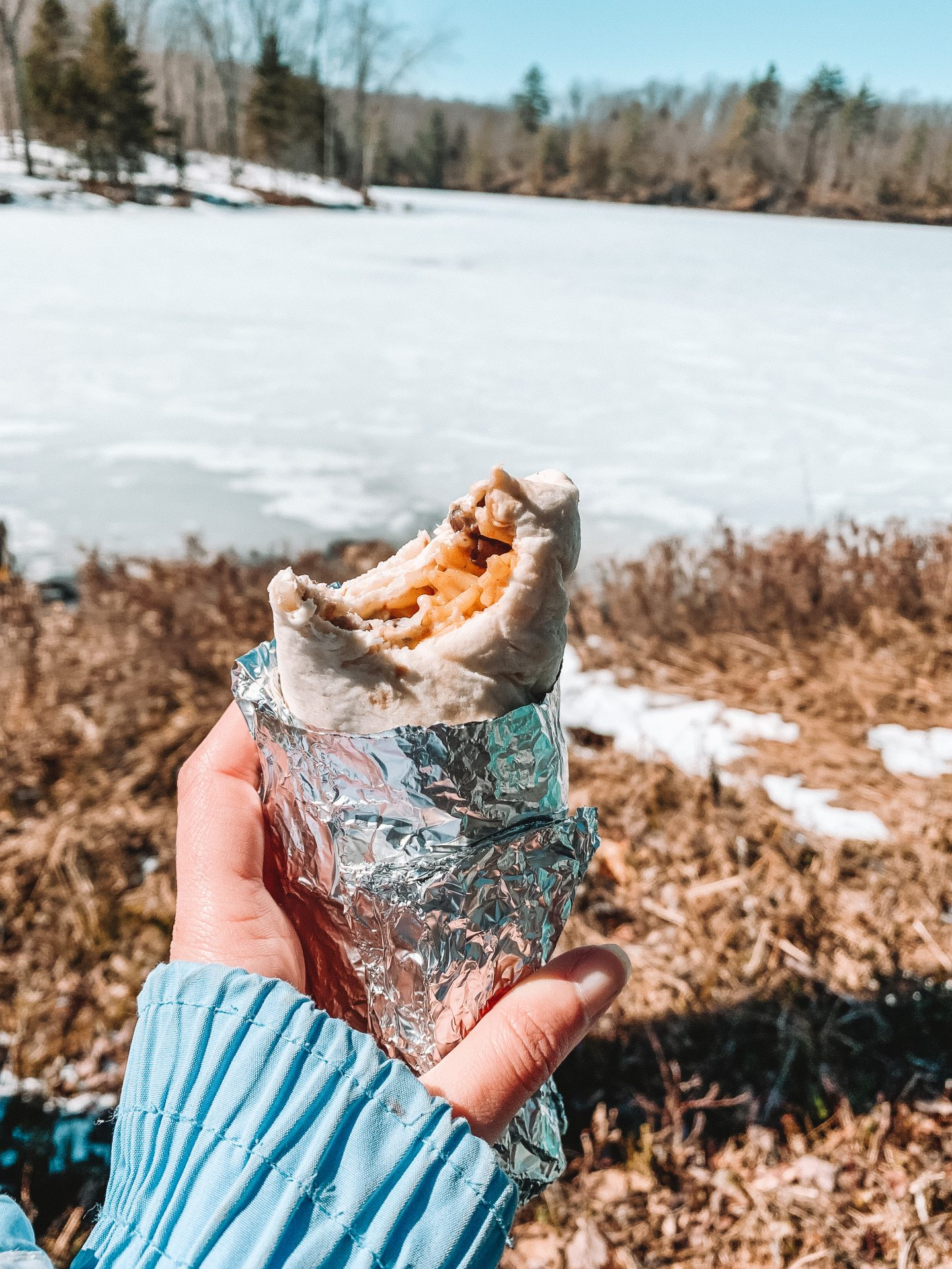 the best snacks for your next hike - burrito