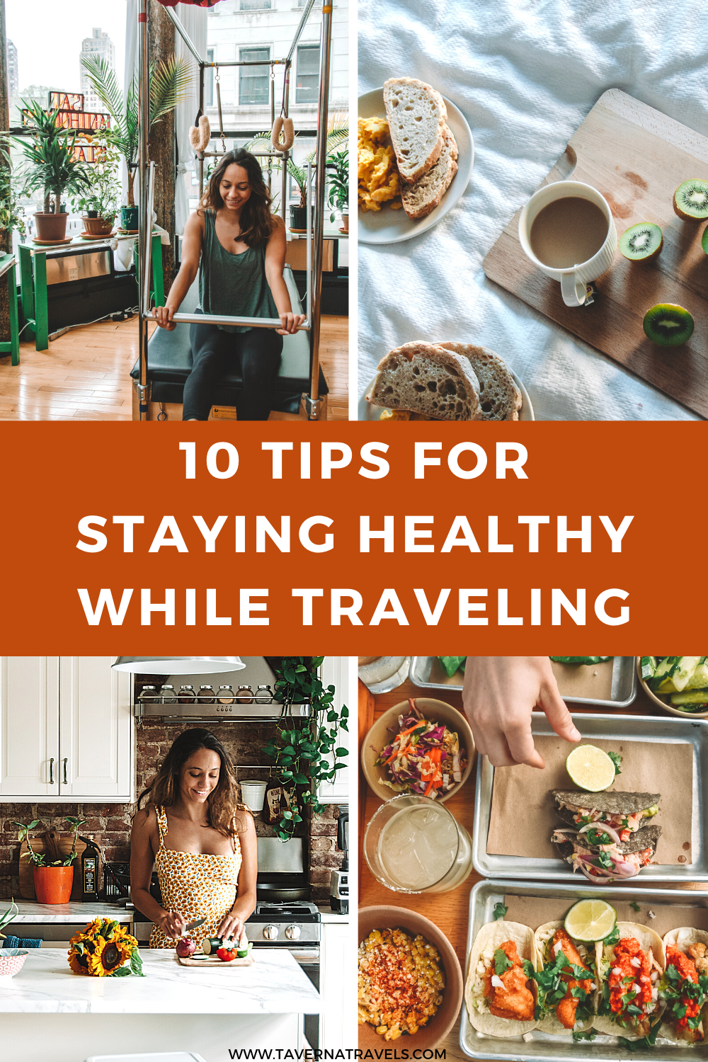How to Stay Healthy while Traveling pin
