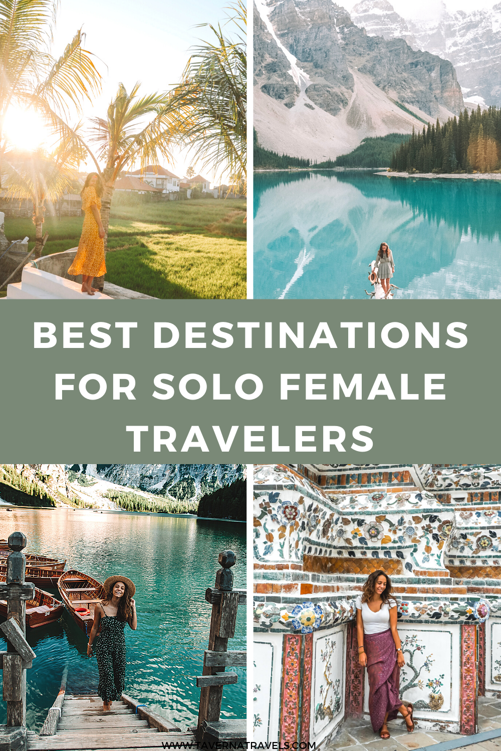 Top Destinations for Solo Female Travel pin