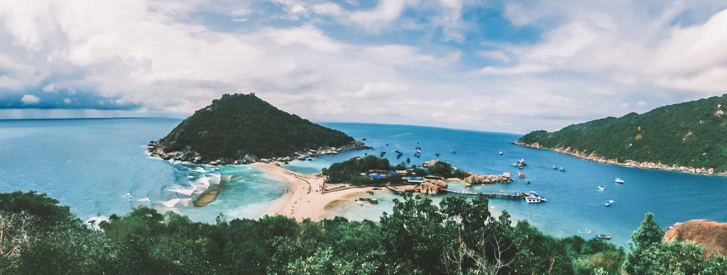 panoramic image of koh tao