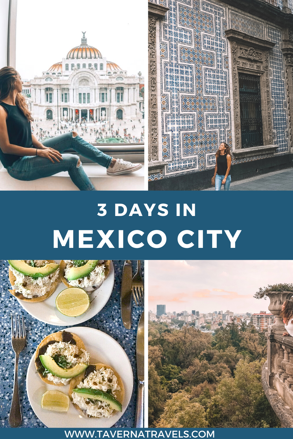 3 Days in Mexico City Travel Itinerary pin