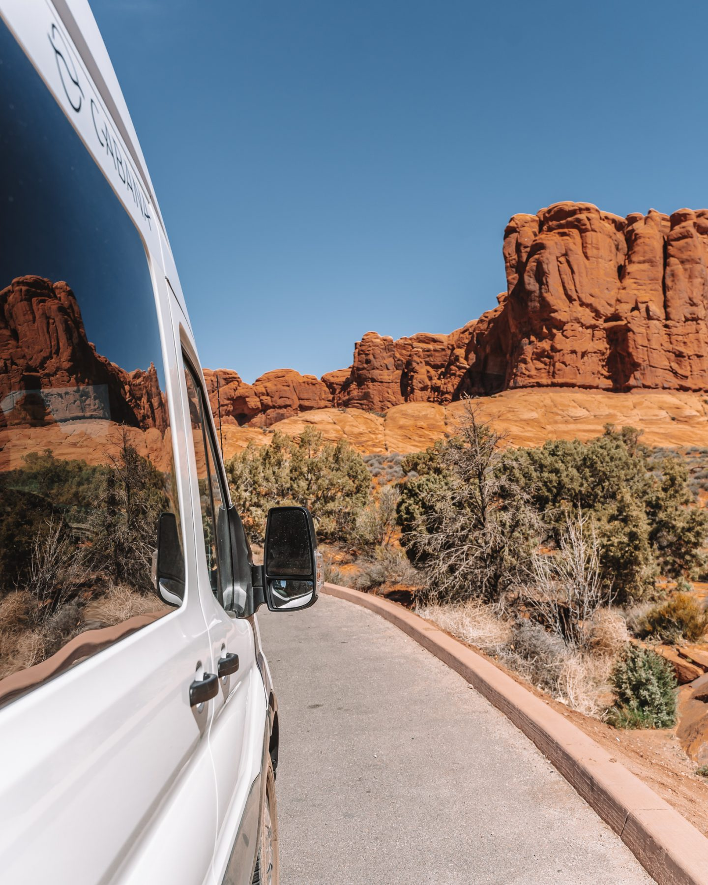 campervan road trip to arches np