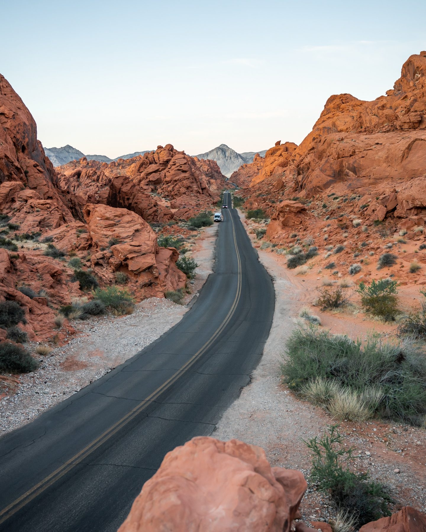 exploring valley of fire state park at sunrise