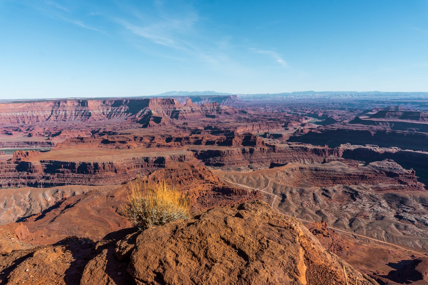 Dead Horse Point overlook at sunset