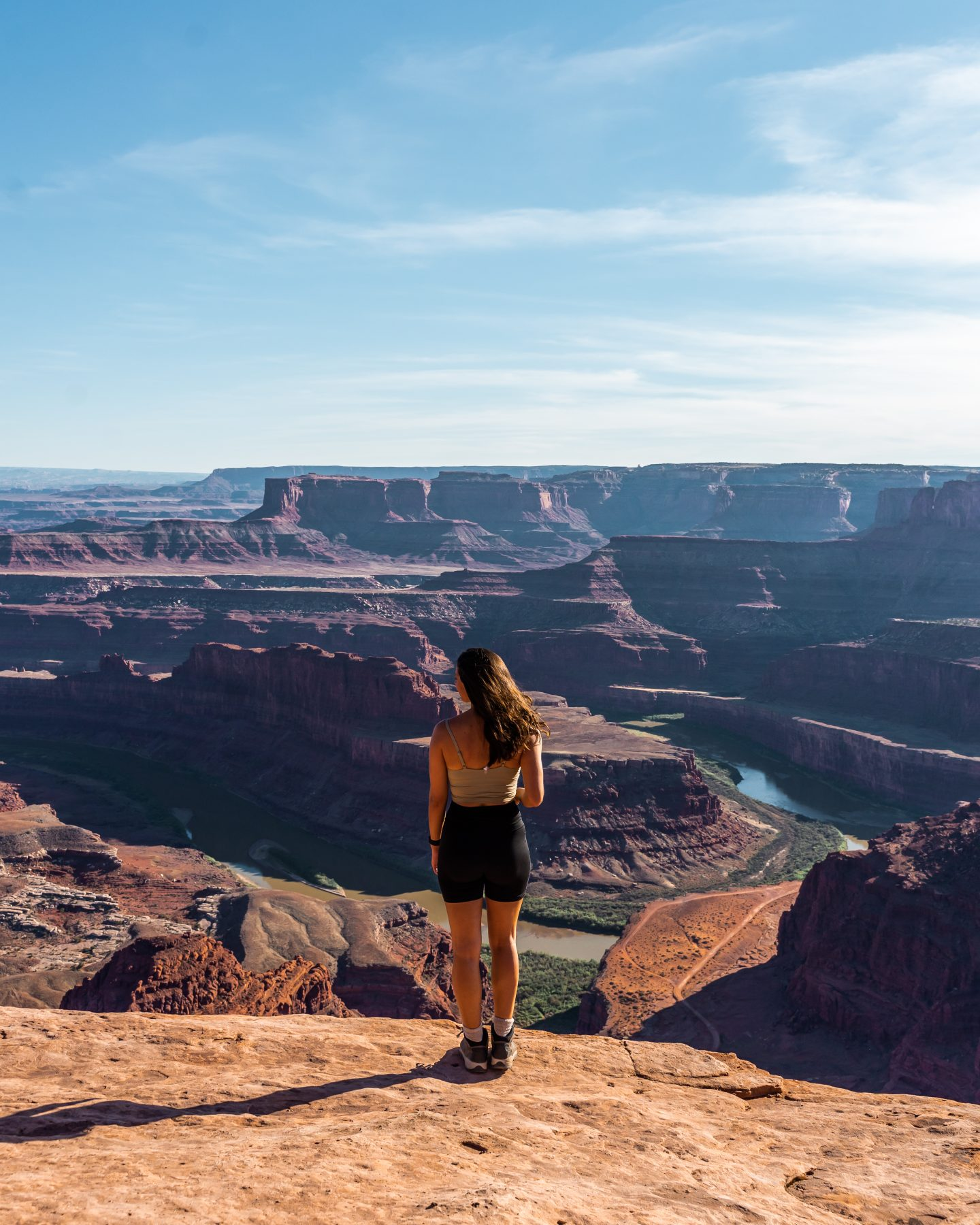 girl at Dead Horse Point State Park