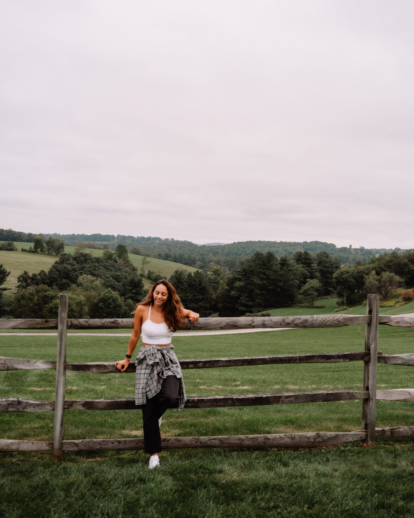 girl Exploring the historic site of the 1969 Woodstock Festival