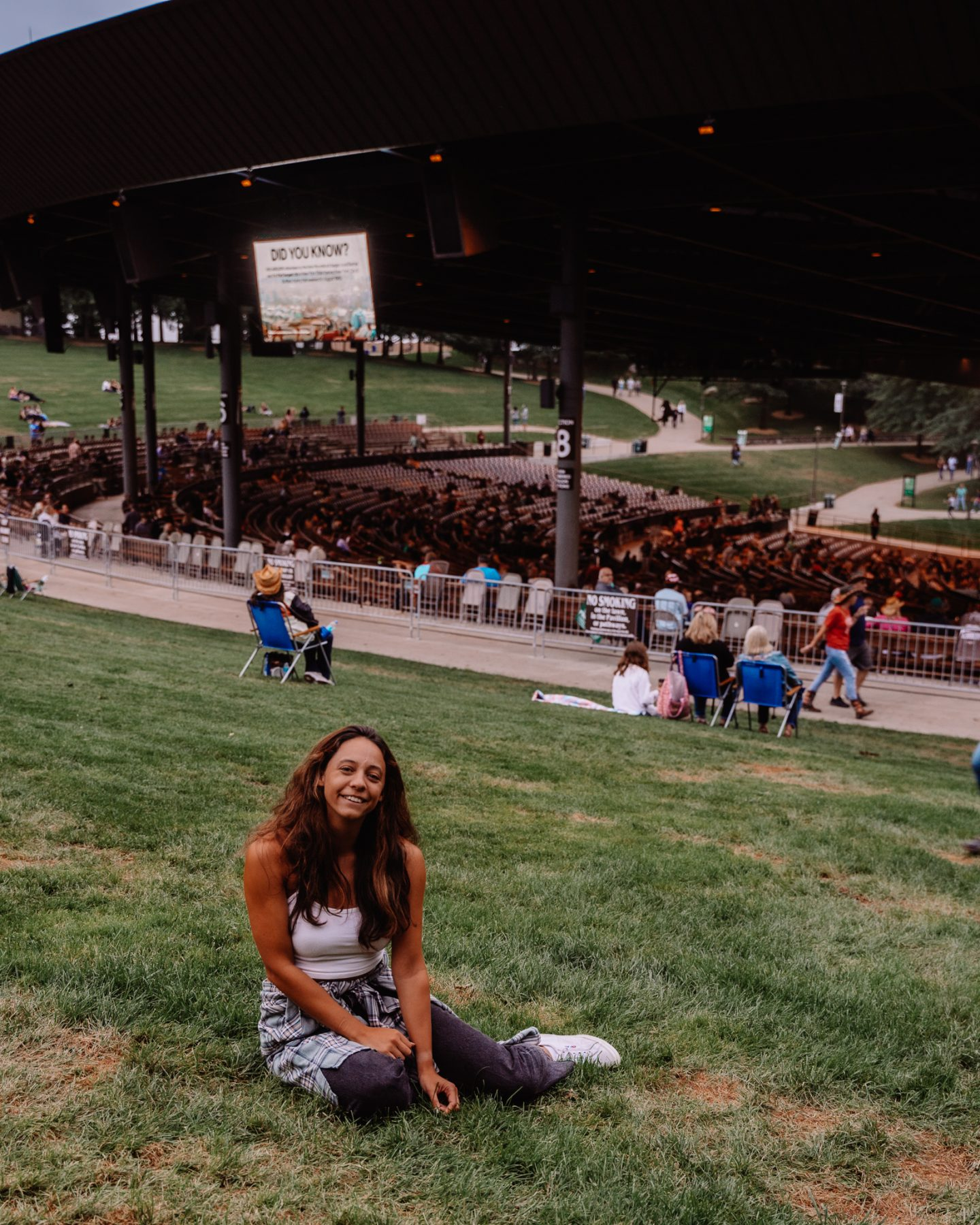 girl at a live music concert at bethel woods