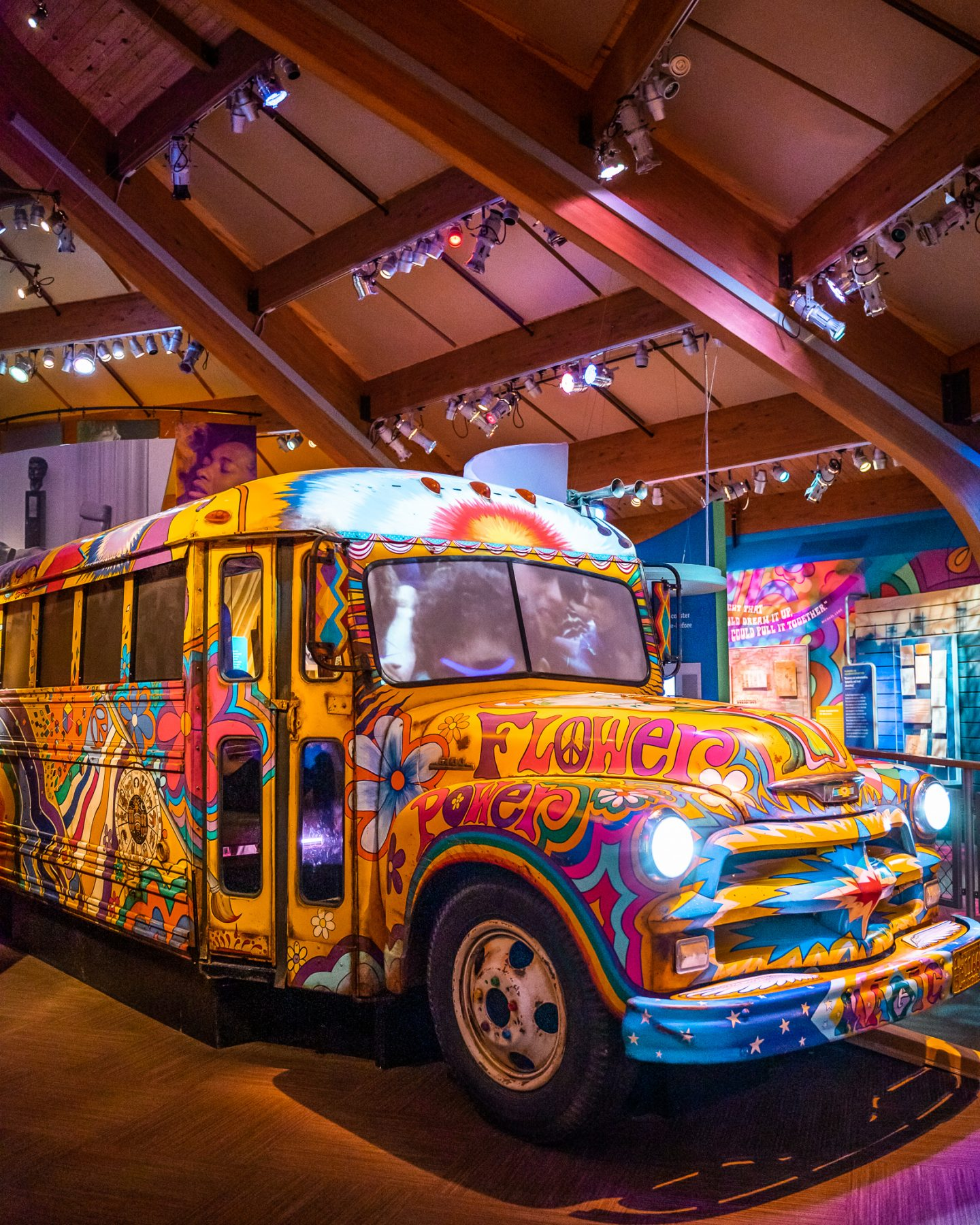 bus at the museum at bethel woods